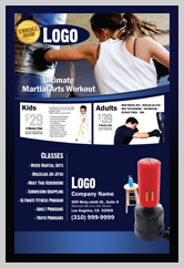Martial Arts Design Templates For Marketing Ad Cards Ma000502