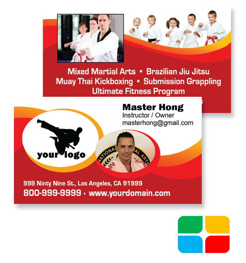 Martial Arts Business Cards ma020010