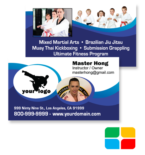 Martial Arts Business Cards ma020020