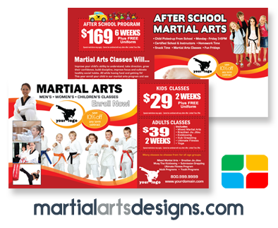 Martial Arts Postcards #MA020010 6 x 11 UV Gloss