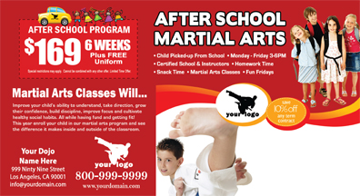 Martial Arts Postcard (6 x 11) #MA020010 UV Gloss Back