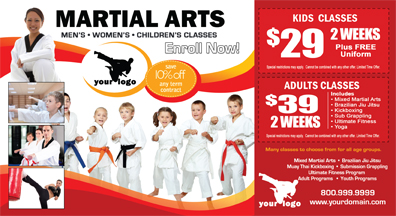 Martial Arts Postcard (6 x 11) #MA020010 UV Gloss Front
