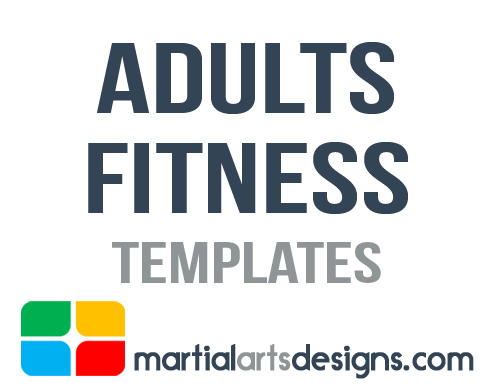 Martial Arts Adult Fitness Templates