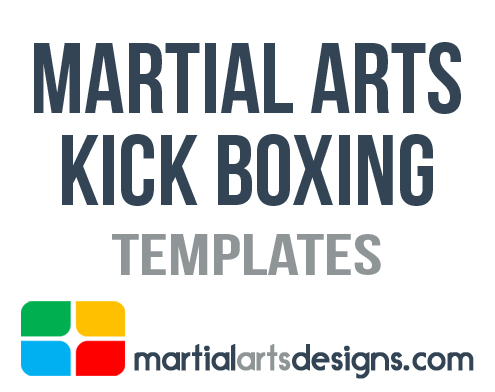 Martial Arts Kick Boxing Templates