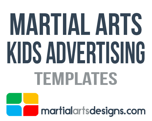 Martial Arts Kids Advertising Templates