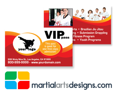 Martial Arts VIP Pass Template ma020010