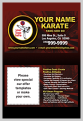 Martial Arts Design Template ma000501 business cards