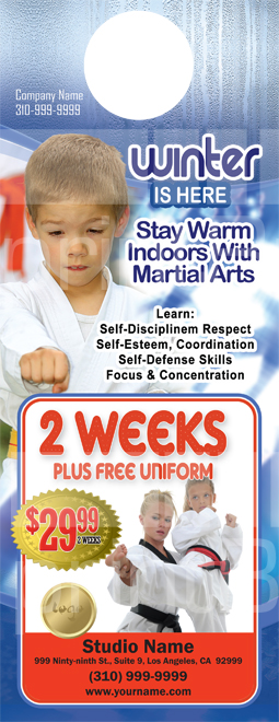Martial Arts Design Template Postcard 8.5 x 5.5 Flyer ma013001 4.25 x 11
