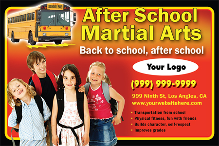 Martial Arts Design Template Postcard ma001002