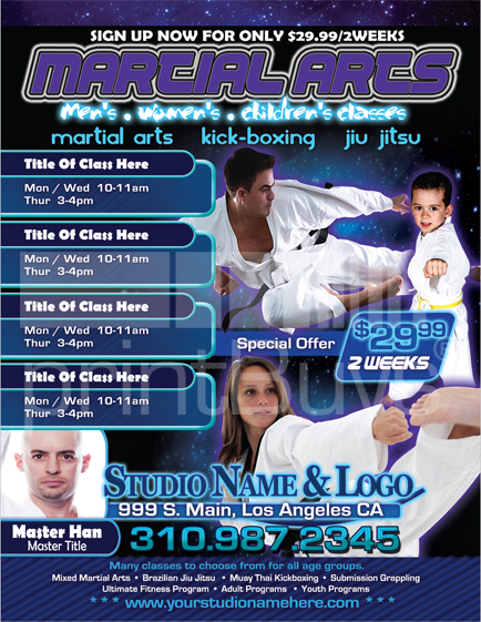 martial arts flyer  8 5 x 11   ma000503